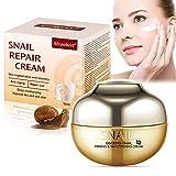 Crema de Baba de Caracol, Snail Repair Cream, Natural Snail Extract Cream, Crema Facial para Hidratante, Reafirma y Nutritiva - Reducir las Arrugas y Líneas Finas, Para mujeres y hombres - 50ML