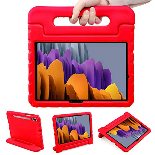 NEWSTYLE Case for Samsung Galaxy Tab S7 11 Inch 2020,Kids Shock Proof Convertible Handle Light Weight Super Protective Stand Cover Case for Tablet S7 SM-T870/SM-T875 2020 Tablet (Red)