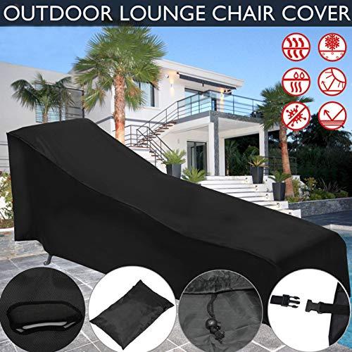 78.74 * 26.77 * 15,75–70 cm Chaise Housse de chaise, extérieur Soleil Housse de chaise Lounge avec sac de transport, Noir
