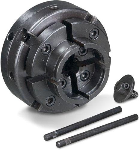 Holzstar Vier-Backenfutter (für Drechselbank, Spannbereich außen 51-78 mm / innen: 40-63 mm, mit Schraubeinsatz), 5931021