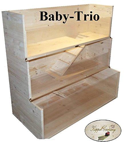 Nagerheim Baby Trio 3-stöckig 120x60x120cm Meerschweinchen Gehege Made in Germany von KÄPPEL-Germany
