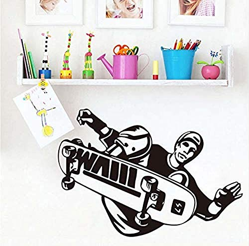 Wall Stickers Decal Skateboard Extreme Sports Skate Player Home Decoration Living Room Wall Decorative 41X56Cm