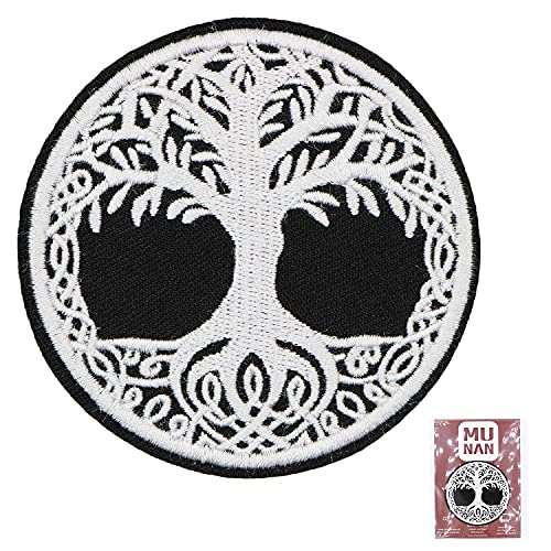 Yggdrasil The Tree of Life in Norse Mythology Thick Patch Embroidered Applique Badge Iron On Sew On Emblem