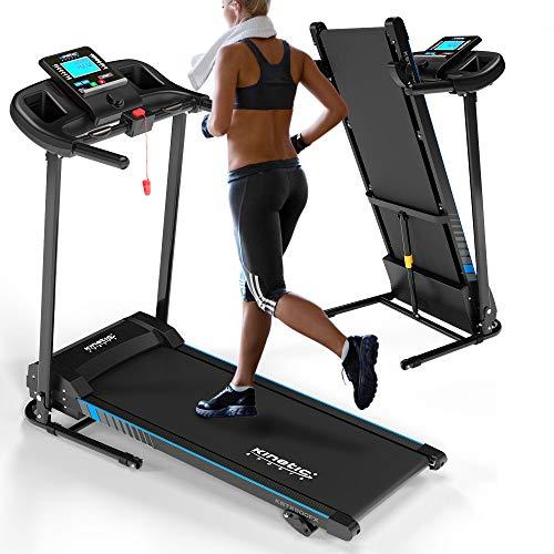 Kinetic Sports KST2900FX Laufband klappbar | 750 Watt leiser Elektromotor | Extra breite 40 cm Lauffläche | 16+1 Trainingsprogramme | GEH- und Lauftraining | bis 10 km/h | LCD Display | bis 120 kg