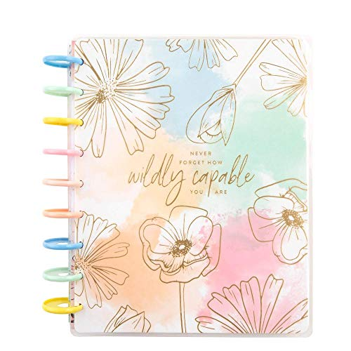 Classic Vertical Happy Planner - Linear Florals - 12 Months