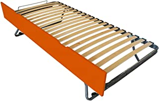 ABC MEUBLES - Tiroir lit Sommier relevable hêtre - TIRLIT90H - Orange, 80x19