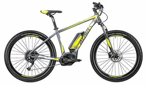 Mountain Bike elettrica eMTB con pedalata assistita Atala B-CROSS CX 500 9 velocità, colore antracite - giallo opaco, misura M-18'-46cm (statura 170 - 185 cm)