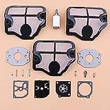 HaoYueDa Kit de reparación de carburador de Filtro de Aire para Husqvarna 136, 137, 141, 142, Piezas de Repuesto de Motosierra Zama RB-38 530029811