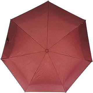 Sun Protection UV Umbrellas Rain and Rain Umbrellas Ultralight Portable Folding Umbrellas Men, Ladies Solid Color Umbrellas HYBKY (Color : Red)