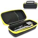 Philips Norelco OneBlade Trimmer Shaver Case, ACdream EVA Hard PU Leather Cover Case Travel Storage Organizer Carrying Bag for Philips Norelco One Blade, QP2520/90 QP2520/70 QP2630/70, Black