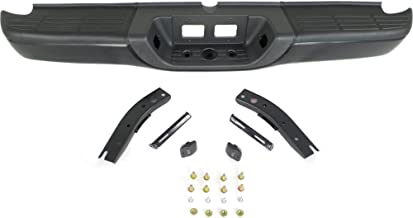 Rear Step Bumper Compatible with Toyota Tundra 2000-2006 Assembly Powdercoated Black Steel Fleetside
