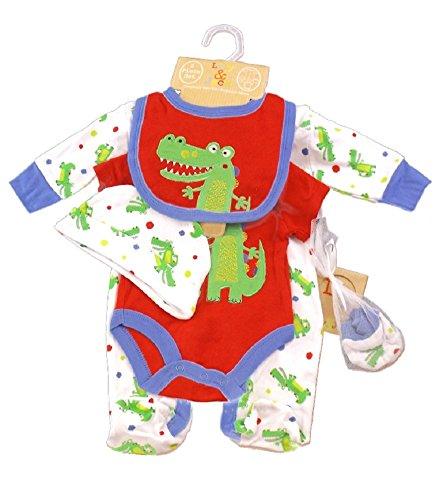 Baby ragazzi vestiti Layette Gift set coccodrillo a tema dai 0ai 3mesi