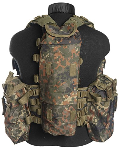 Mil-Tec Herren Tactical12 TA Einsatzweste, Flecktarn, One Size