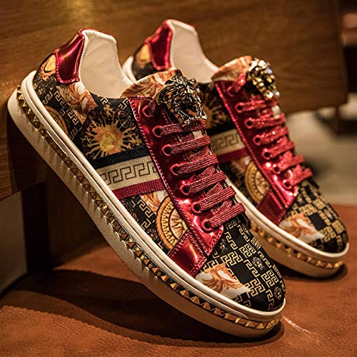 N-B Men's Sports Shoes, Printed Embroidery Fashion Low-Top Casual Shoes