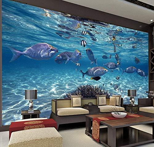 Libjia 3D Wallpaper Cartoon U-Boot Welt Marine Life Wandbild Kinder Schlafzimmer Aquarium Wohnzimmer Hintergrund Tapete