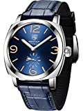 Relógio masculino analógico mecânico automático da BY BENYAR com pulseira de borracha BY5174, Azul