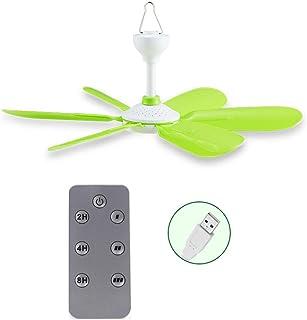 Ventilador de techo con mando a distancia, 5 W, USB, para cama, camping, exterior, colgante, caravanas, colgador, ventilador, 2,4 m, cable de alimentación