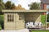 Fonteyn Gartenhaus/Blockhütte Annebeth Flachdach 480 x 240 cm Hochdruck-Imprägniert