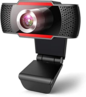 Webcam 1080P Full HD, Webcam with Microphone for PC, USB 2.0 Web Camera, Webcam for Video Calls, Plug and Play, Recording,...