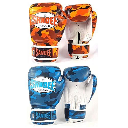 Sandee Authentic Kids Camo Boxhandschuhe Junior 113 g 170 g 227 g Muay Thai Sparring Handschuhe, Sport & Outdoor, Orange, 4oz