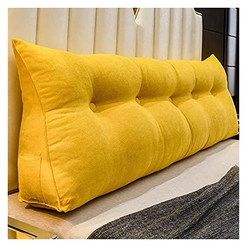 HZPXSB Big Long Wedge Back Almohada de la Cama Respaldo de la Cama Grande Tatami Cama Cojín Decorativo (Color : Purple, Size : 180x50x20cm)