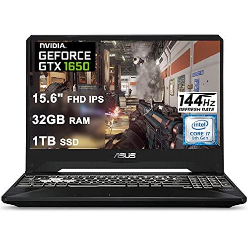 Asus 2021 Flagship TUF FX505GT 15 Gaming Laptop 15.6' FHD IPS 144Hz Display Intel Hexa-Core i7-9750H 32GB DDR4 1TB SSD GTX 1650 4GB Webcam DTS RGB Backlit WiFi Win10