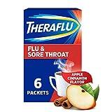 Theraflu Flu and Sore Throat Hot Liquid Powder, Apple Cinnamon Flavor, for relief from Nasal...