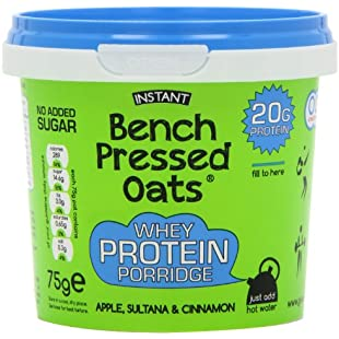 Oomf Whey Protein Porridge Instant Oats, 20 g Protein Per Pot, No Added Sugar, No Artificial Flavours or Ingredients, 75 g Per Pot, Apple, Sultana and Cinnamon Flavour, Pack of 8:Iracematravel
