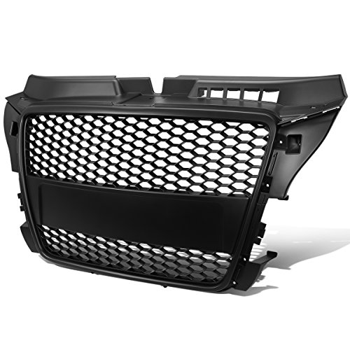 For 08-11 Audi A3 RS-Style ABS Plastic Honeycomb Mesh Front Grille (Black) - 2nd Gen Typ 8P