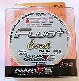 Awa shima Fil de pêche Fluo+ Coral, 2 bobines de 300 m, diamètre 0,203 mm, résistance 5,09 kg pour le surf Casting