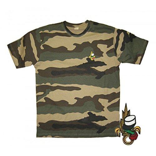 Tee Shirt Militaire brodé Légion Kaki - S