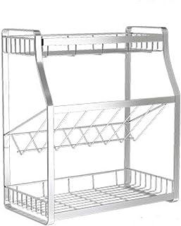 SCRFF étagère-2-Tier Cuisine Permanent Rack comptoir de Cuisine Rangement Organisateur étagère Porte-épices Rack (Size : 3...