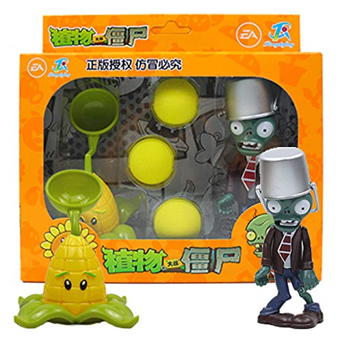 Nuevo juego popular PVZ Plants Vs Zombies Peashooter PVC Figura de acción Modelo Juguetes 10CM Plants Vs Zombies Toys