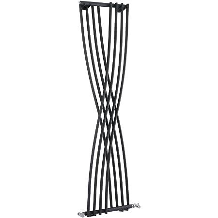 Hudson Reed Design Heizk/örper Vertikal aus Stahl Xite Silber 1775 x 450 mm