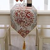 lussuoso piantare fiori Watkins ricamo palazzo stile Runner tessuti Bronzing continentale lussuoso tovaglie classico selvaggio tavolo da tè decorazione decorazione domestica rosso
