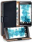 MoEx Funda Cartera [protección 360°] Compatible con HTC One M8 / M8s | Cierre magnético, Noir