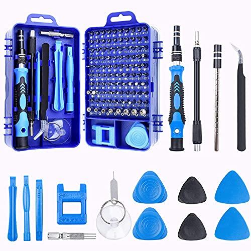 Wacent Juego de Destornilladores, 115pcs en Juego de Destornilladores para Puntas magnéticas Destornillador Herramienta Multifuncional (Azul