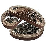 45 pz Nastro abrasivo 20 * 520mm rettificatrice pneumatica levigatrice per metallo nastro macchina anello sabbia anello, 150 Grit