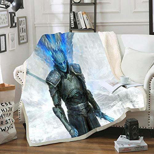 HKYH - Manta de franela con diseño de Juego de Tronos, estampada 3D, 100 % microfibra, para parejas, niños y adultos, 130 x 150 cm