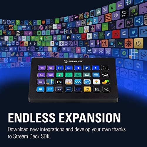 『CORSAIR elgato STREAM DECK XL ライブコンテンツ作成コントローラー メーカー保証2年 USB3.0 LCDボタン:32個 10GAT9901』の7枚目の画像