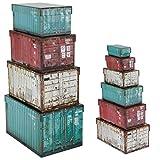 Spetebo Juego de 10 Cajas Decorativas con Tapa, diseño de contenedores
