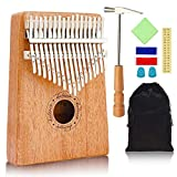 Kalimba, 17 Key Kalimba Thumb Piano, Mahogany Wood Music Instrument Finger Piano with Tuning Hammer for kids Adult Beginners, Christmas perfect gifts Ideal for Friend, Family, Lover (C Tone) Mbira
