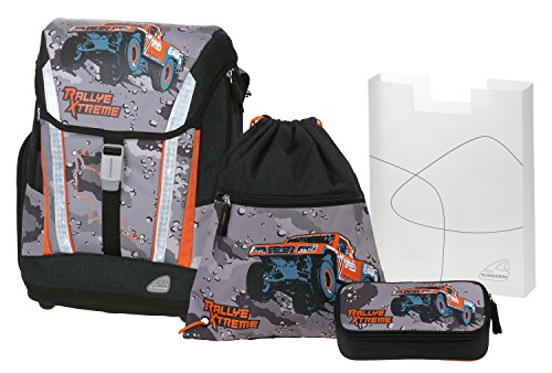 Angry Birds School Backpack Set 4/1 Soft Rallye 78302 Mochila Infantil 40 Centimeters 24 (Black and Grey)