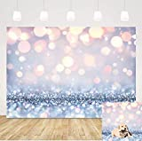 Stylish Simplicity Bling Theme Backdrop Dreamy Silvery White Spots Sequin Bokeh (Not Glitter) Photography Background 5x3ft Baby Shower Birthday Party Newborn Children Portrait Photo Studio Prop Banner