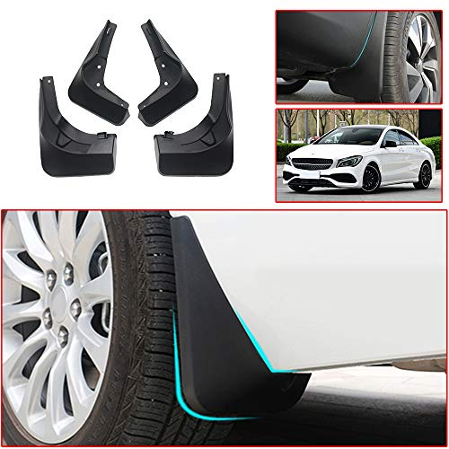 Muchkey no dril car mud Flaps for Benz CLA 2017 2018 2019 Splash Front and Rear Guards 4pcs/Set