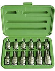 JBM® 51261 bilstötnyckel för Torx-uttag 1/2 tum, set med 12