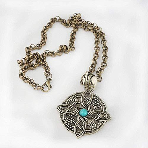 CKAWM Halskette Herren Halskette Spiel Amulett Von Mara Halskette The Elder Scrolls V Skyrim Anhänger Dinosaurier Dreieck Cosplay Herren Schmuck