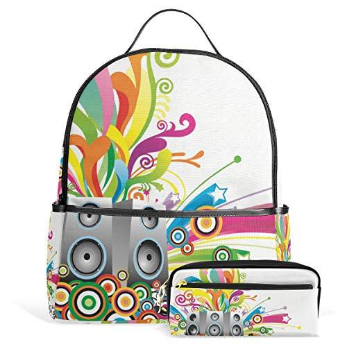 FANTAZIO Mochilas bolsa de lápiz caja de altavoz conjunto de bolsa escolar