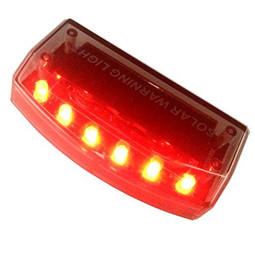 Sunnytech 1pc Solar Car Burglar Alarm 6LED Flashing Anti-theft Warning RED Light GSPX D141 (Red)
