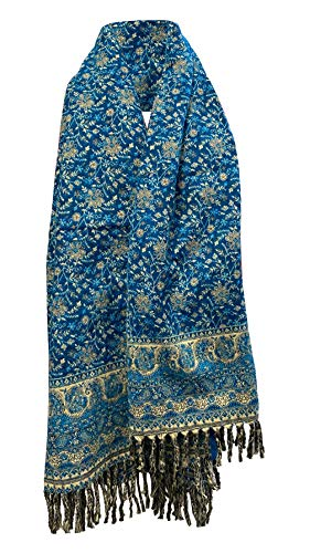 Scialle invernale in lana con stampa floreale a foglia, realizzata a mano, di lusso, per sciarpa, scialle e sciarpe invernali